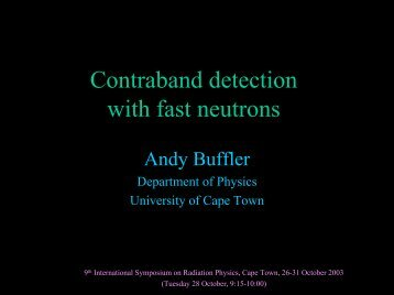 Contraband detection with fast neutrons - University of Cape Town