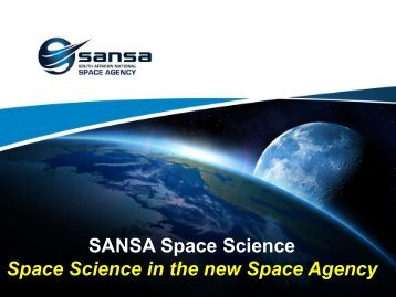 sansa space science - University of Cape Town