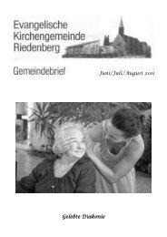 Freud und Leid in unserer Gemeinde Seniorengeburtstage