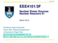 End EEE4101/3F Nuclear Reactors 01 - University of Cape Town
