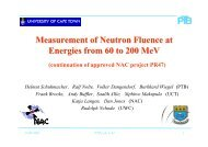 Measurement of Neutron Fluence at Energies from 60 to 200 MeV