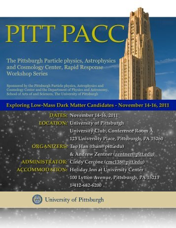 The Pittsburgh Particle physics, Astrophysics and Cosmology Center ...