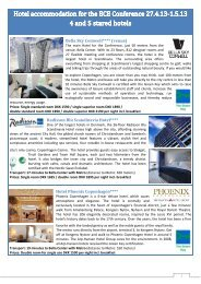 Hotel Accommodation (pdf) - ECE 2013