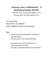 """Vorlesung """"Atom- und Molekülbau"""" - Institut für Physikalische Chemie"""