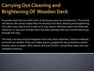 Carrying Out Cleaning and Brightening of Wooden Deck