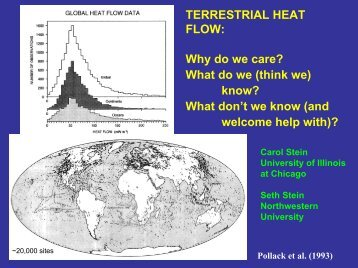 TERRESTRIAL HEAT FLOW: Why do we care? What do we (think ...
