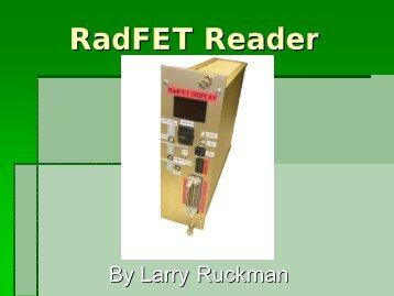 RadFET Reader