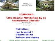 CORMORAD COre Reactor MOnitoRing by an Antineutrino Detector