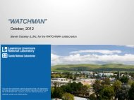 Watchman - Department of Physics and Astronomy