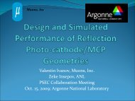 Design and Simulated Performance of Reflection Photo-cathode ...