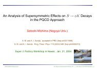 An Analysis of Supersymmetric Effects on B → φK Decays in the ...