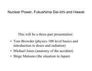 Nuclear Power, Fukushima Dai-Ichi and Hawaii • Tom Browder ...