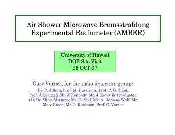 Air Shower Microwave Bremsstrahlung Experimental Radiometer ...