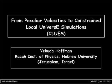 From Peculiar Velocities to Constrained Local UniversE Simulations ...