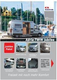 Adria Twin jubilee für nur € 33.638 - M/S VisuCom GmbH