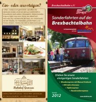 Fahrplan 2012 - Brexbachtalbahn eV