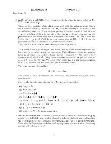 Homework 2 Physics 419