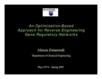 An Optimization-Based Approach for Reverse Engineering Gene