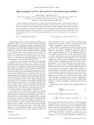 Spike propagation in driven chain networks with dominant global ...