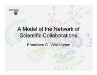 A Model of the Network of Scientific Collaborations