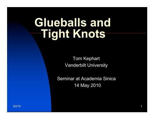 Glueballs and Tight Knots - Academia Sinica