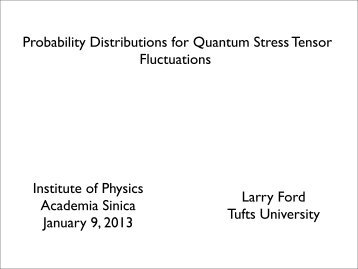 Probability Distributions for Quantum Stress ... - Academia Sinica