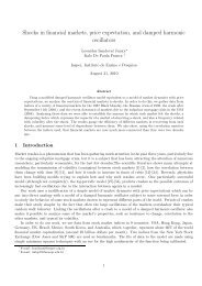 Shocks in financial markets, price expectation, and damped ...