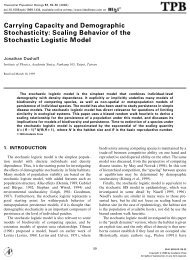 Carrying Capacity and Demographic Stochasticity ... - ResearchGate