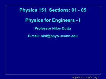 Physics 131: Lecture 1 Notes