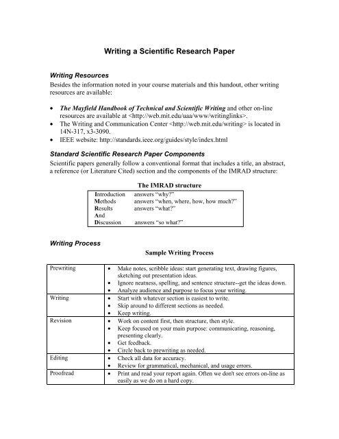 apa scientific research paper format