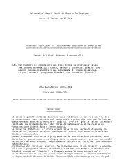 Universita' degli Studi di Roma - La Sapienza ... - Fisica - Sapienza