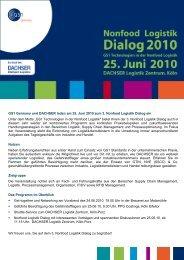 Get-together und Networking am Vorabend des 24.06. - bei Dachser