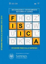 Download libretto (2.4 MB) - Fisica - Sapienza