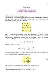 1 CAPITOLO 1 RIFLESSIONE E RIFRAZIONE DELLE ONDE ... - Fisica