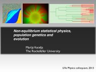 Non-equilibrium statistical physics, population genetics and evolution
