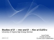 Studies of D → πeν and D → Keν at CLEO-c - University of Virginia