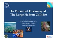 In Pursuit of Discovery at The Large Hadron Collider - Department of ...