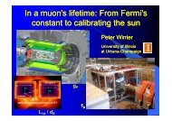In a muon's lifetime: From Fermi's constant to calibrating the sun
