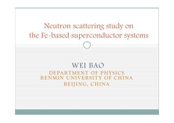 Neutron scattering study on the Fe-based superconductor systems