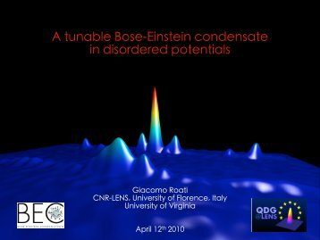 A tunable Bose-Einstein condensate in disordered potentials
