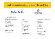 The study of neutron quantum states in the Earth's gravitational field