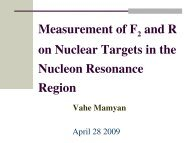 Measurements of F 2 and R = σ L/ σ T on Nuclear-Targets in the ...