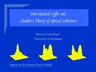 Nonclassical Light and Glauber's Theory of Optical Coherence
