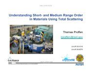 Understanding short- and medium range order in materials using ...