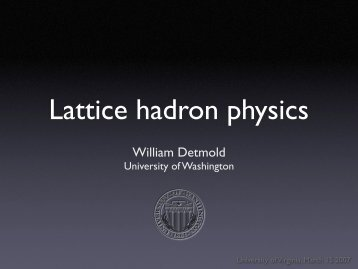 External Fields in Lattice Hadron Physics - University of Virginia