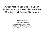 Ultrashort Phase Locked Laser Pulses for Asymmetric Electric Field ...