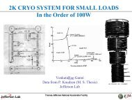 2K CRYO SYSTEM FOR SMALL LOADS In the Order of 100W