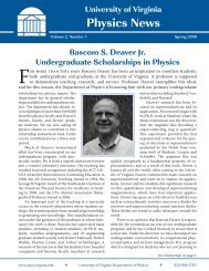 Spring 2008 - Department of Physics - University of Virginia