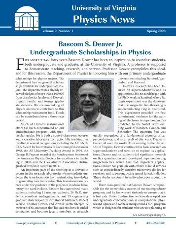 Spring 2008 - Department of Physics - University of Virginia