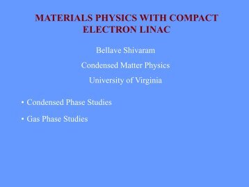 Material physics - University of Virginia